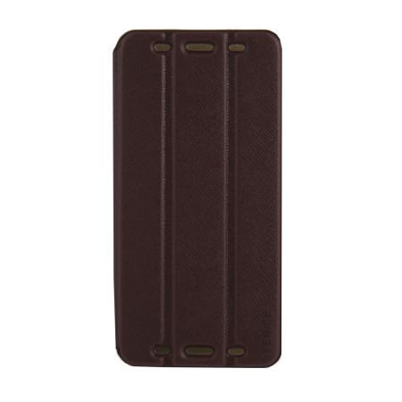 Brand New Genuine Fenice CREATTO HTC One Flip Case Cover Dark Brown