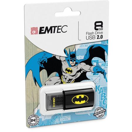 Brand New 8GB Emtec C600 Batman Single Pack USB 2.0 Flash Pen Drive