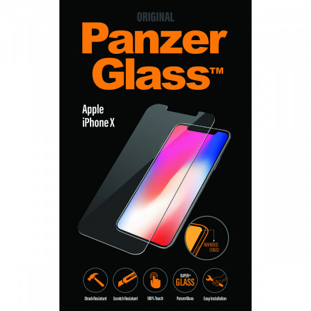 New Genuine Panzer Glass 2622 Apple iPhone XS Glass Screen Protector