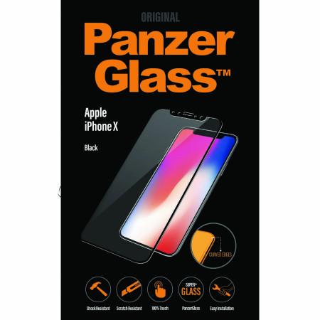 Genuine Panzer Glass 2623 Apple iPhone XS Premium Glass Screen Protector Black