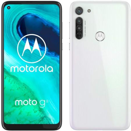 New Motorola Moto G8 Pearl White 64GB Dual SIM Andriod 10 Unlocked Sim Free