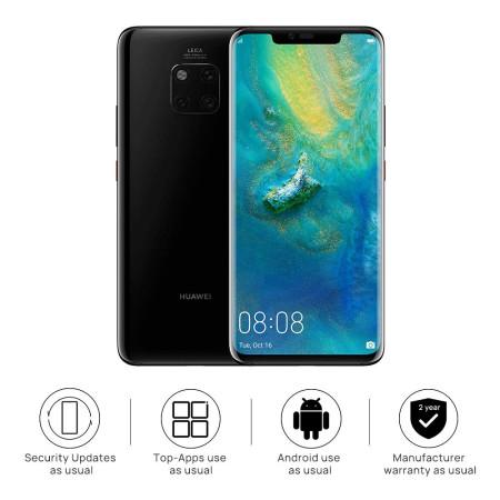 """New Huawei Mate 20 Pro Black Dual SIM LYA-L29 6.39"""" 128GB 6GB LTE Android 9 Sim Free"""