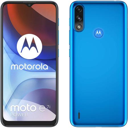 "New Motorola Moto E7i Power Tahiti Blue 6.5"" 32GB 5000mAh Sim Free Unlocked"
