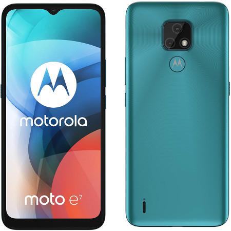 "New Motorola Moto E7 Aqua Blue 6.5"" 32GB 4000mAh Sim Free Unlocked"