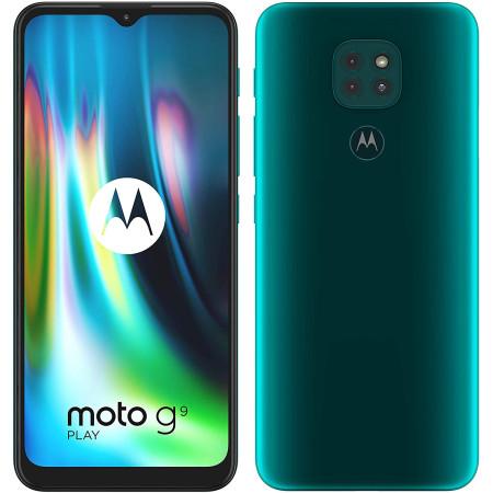 "New Motorola Moto G9 Play Green 6.5"" 64GB Dual SIM Andriod 10 Unlocked Sim Free"