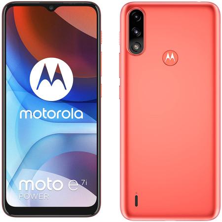 "New Motorola Moto E7i Power Satin Red 6.5"" 32GB 5000mAh Sim Free Unlocked"
