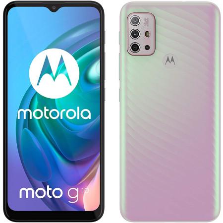 "New Motorola Moto G10 Sakura Pearl 6.5"" 64GB Dual SIM Android 11 Unlocked Sim Free"