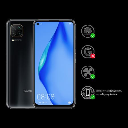 "New Huawei P40 Lite Midnight Black 128GB 6.4"" 6GB HMS Android 10 Sim Free UK"