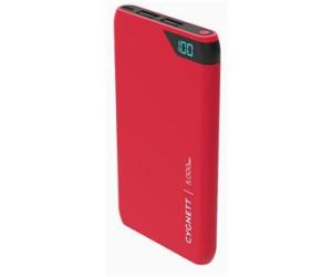 Cygnett ChargeUp Boost 5K (5,000mAh) Dual USB Power Bank (Red)