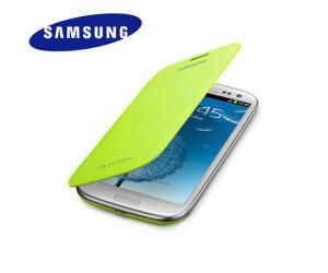 Brand New Genuine Samsung Galaxy S3 III i9300 Flip Case Cover Green