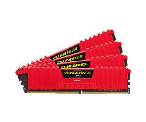 New Corsair Vengeance LPX Red 16GB DDR4 PC4-21300 XMP Quad CMK16GX4M4A2666C16R