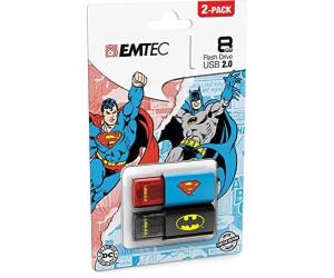 Brand New 8GB Emtec C600 Batman Superman Double Pack USB 2.0 Flash Pen Drive
