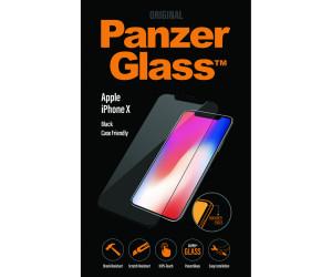 Genuine Panzer Glass 2625 Apple iPhone X Edge To Edge Glass Screen Protector Black