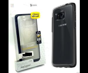Genuine OtterBox Symmetry Samsung Galaxy S7 EDGE Shell Case CLEAR/BLACK