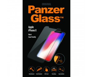 Genuine Panzer Glass 2625 Apple iPhone XS Edge To Edge Glass Screen Protector Black